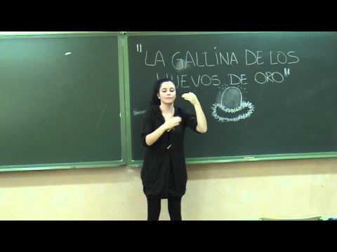 """CUENTO LSE """"LA GALLINA DE LOS HUEVOS DE ORO"""""""