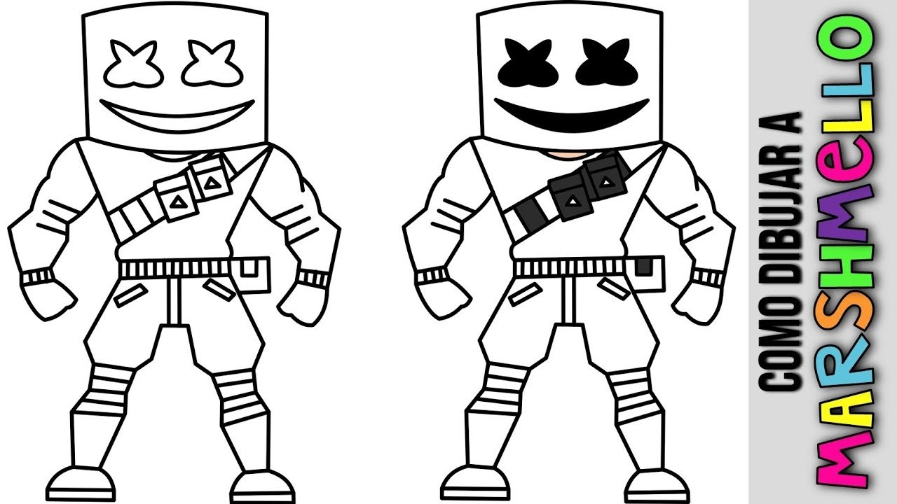 Como Dibujar A Marshmello Paso A Paso How To Draw Marshmellow Fortnite Dibujos Para Niños