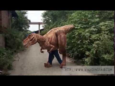 realistas adultos de disfraces de dinosaurios animatronic