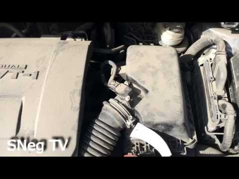 Toyota Corolla 2011 (E150) замена воздушного фильтра двигателя самому