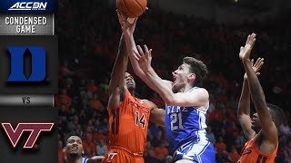 Duke vs. Virginia Tech Condensed Game | 2019-20 ACC Men's Basketball