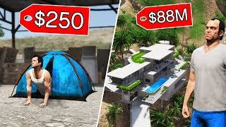 GTA 5 - $250 HOUSE vs $88,000,000 HOUSE!