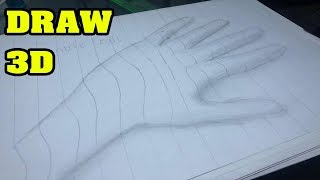 HOW TO MAKE DRAW 3D HAND 2018