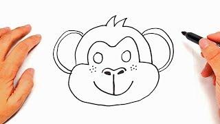 monkey easy drawing draw drawings sketch step simple monkeys cartoon divertidos dibujos para tutorial paintingvalley