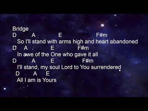 Hillsong - The Stand - Lyrics and Chords (key of A)