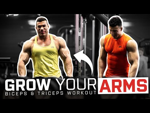 Mass Building Arm Workout with IFBB Pro Lorenzo Leeuwe & Ugur Cevher