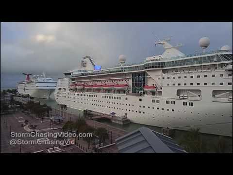Key West, FL Cruise Ships & Thunderstorms  - 1/13/2017