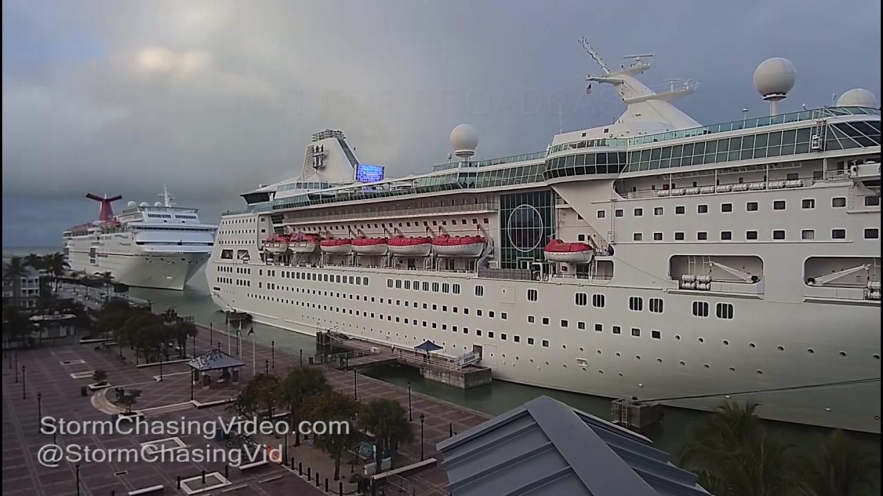 Key West FL Cruise Ships Thunderstorms YouTube - Cruise ships key west