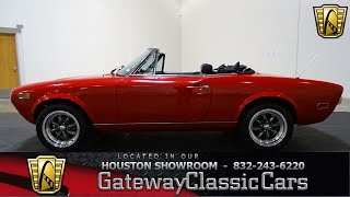 1978 Fiat 124 Spider Gateway Classic Cars #827 Houston Showroom