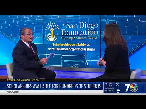 The San Diego Foundation on NBC Discussing Scholarship Opportunities
