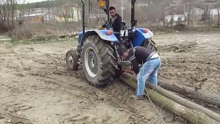 Köy işleri ağaç taşıyoruz. New Holland TT 55 ve TT 50