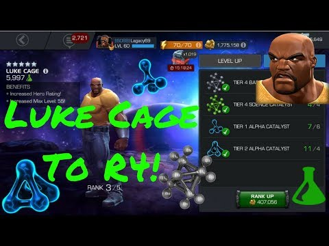 5* Luke Cage To R4! Sweet Christmas! - Marvel Contest Of Champions
