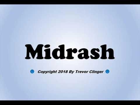 How To Pronounce Midrash - 동영상