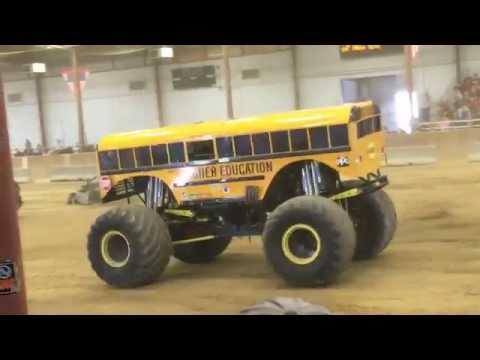 Monster Truck Show Topsfield Fair 2015 - Monster School Bus - Halloween Parade for Children