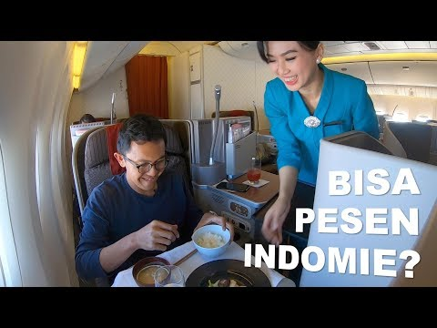BEST INFLIGHT MEAL! BUSINESS CLASS GARUDA INDONESIA TOKYO TO BALI B777-300ER AWESOME FLIGHT!