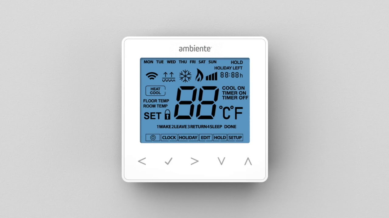 an installer s guide to wet underfloor heating thermostat controls ambiente [ 1280 x 720 Pixel ]