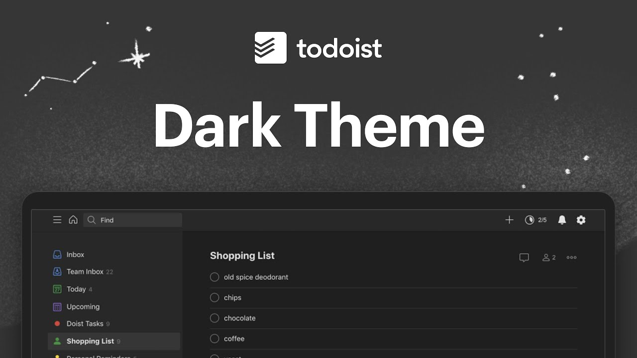 Introducing Dark Theme for Todoist