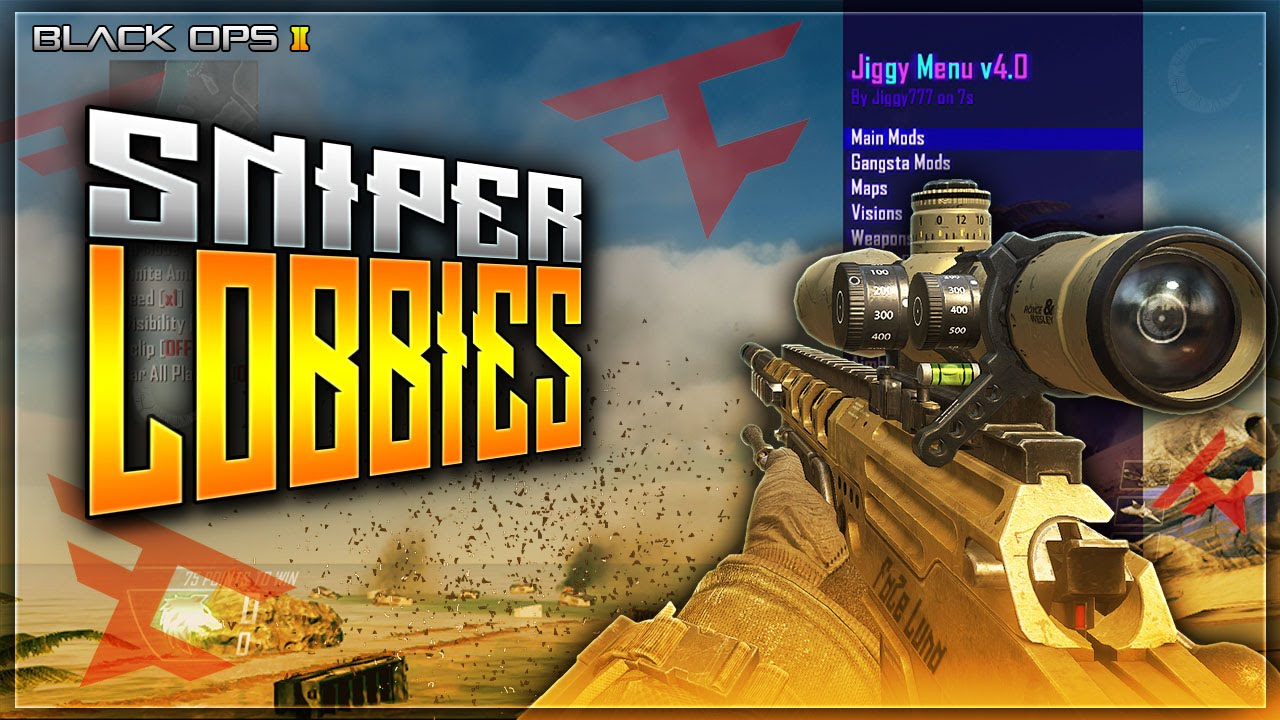BLACK OPS 2 SNIPER LOBBIES WITH JIGGY V4 MOD MENU YouTube