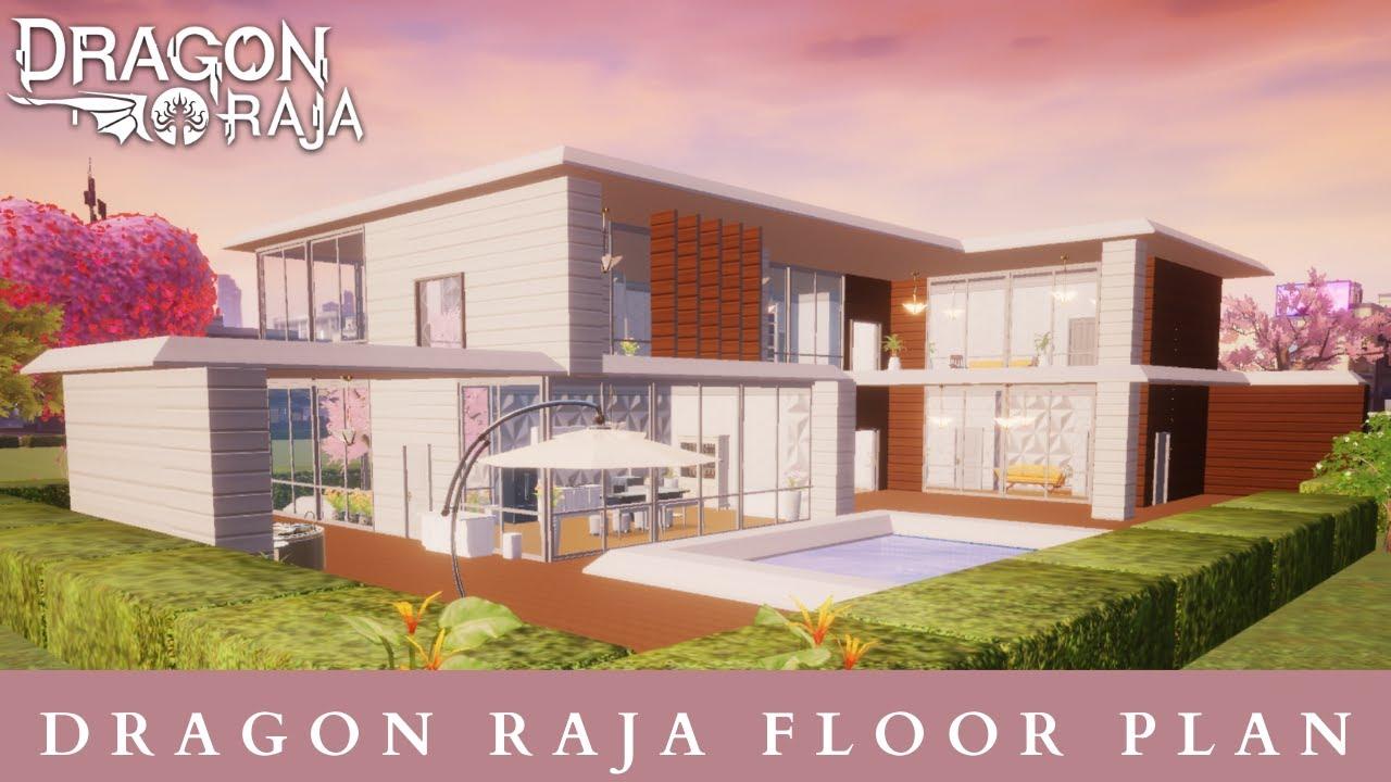 Dragon Raja Floor Plan Modern Villa Tutorial Youtube