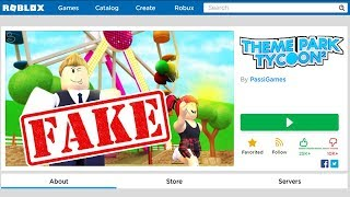 PLAYING THE FAKE THEME PARK TYCOON 2 (Roblox)