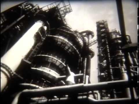 ЧБ фильм из архива. Важнейшие пр-ты нефтепереработки.
