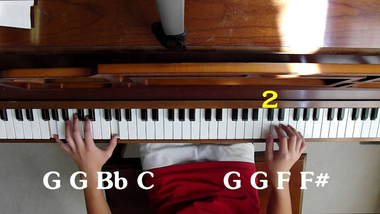 mission impossible theme song piano tutorial w notes on screen youtube. Black Bedroom Furniture Sets. Home Design Ideas