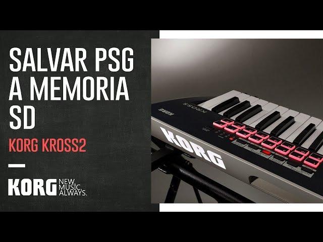 KORG KROSS2 | Salvar un PSG a una memoria SD