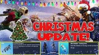 FORTNITE CHRISTMAS UPDATE! CHRISTMAS SKINS, TRAILER & GAMEPLAY!
