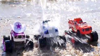 Spielzeugautos - Monster Machines - Crusher steckt im Schlamm fest