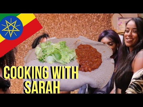 ETHIOPIAN CUISINE RECIPE WITH SARAH B + GETTING TO KNOW SARAH & HER WORKS + INJERA MUKBANG