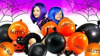 Making SLIME With BALLOONS!!! DIY Slime Balloon Tutorial!!! - HALLOWEEN Mystery Slime Edition