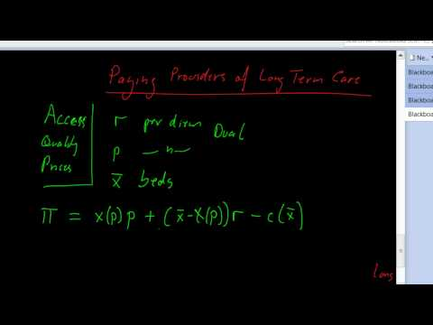 paying providers of long term care