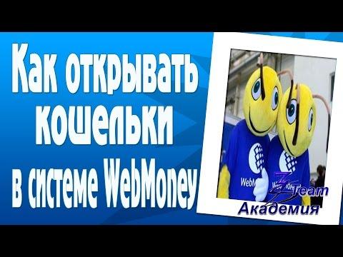 Как открывать кошельки WebMoney