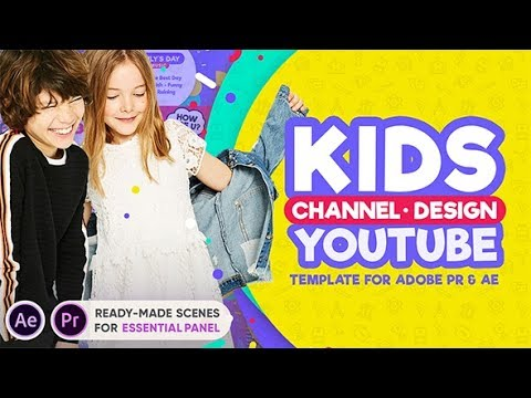 After Effects Template: Kids YouTube Channel Design