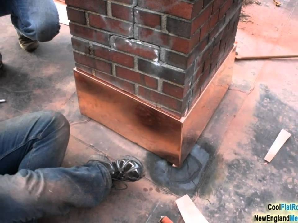 Copper Chimney Flashing And Roof Repair