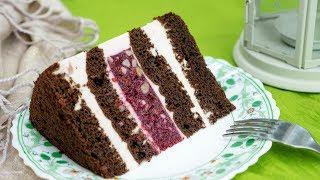 """Торт """"ДИАНА""""💖. Шоколадный бисквит/Вишня/Орех/Йогуртовый мусс - Я - ТОРТодел!"""