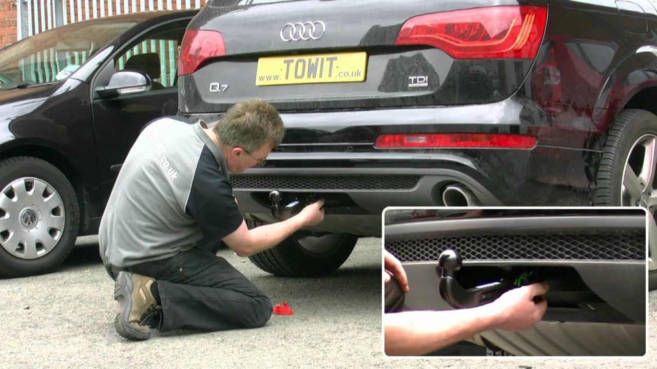 wiring diagram for trailer hook up liver pain location audi q7 westfalia towbar - youtube