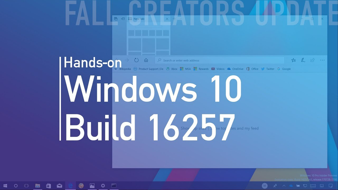 windows 10 build 16257  hands