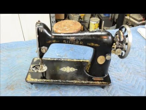 Restoration of an Antique Singer Treadle Sewing Machine - Part 8 - Cleaning  the Machine