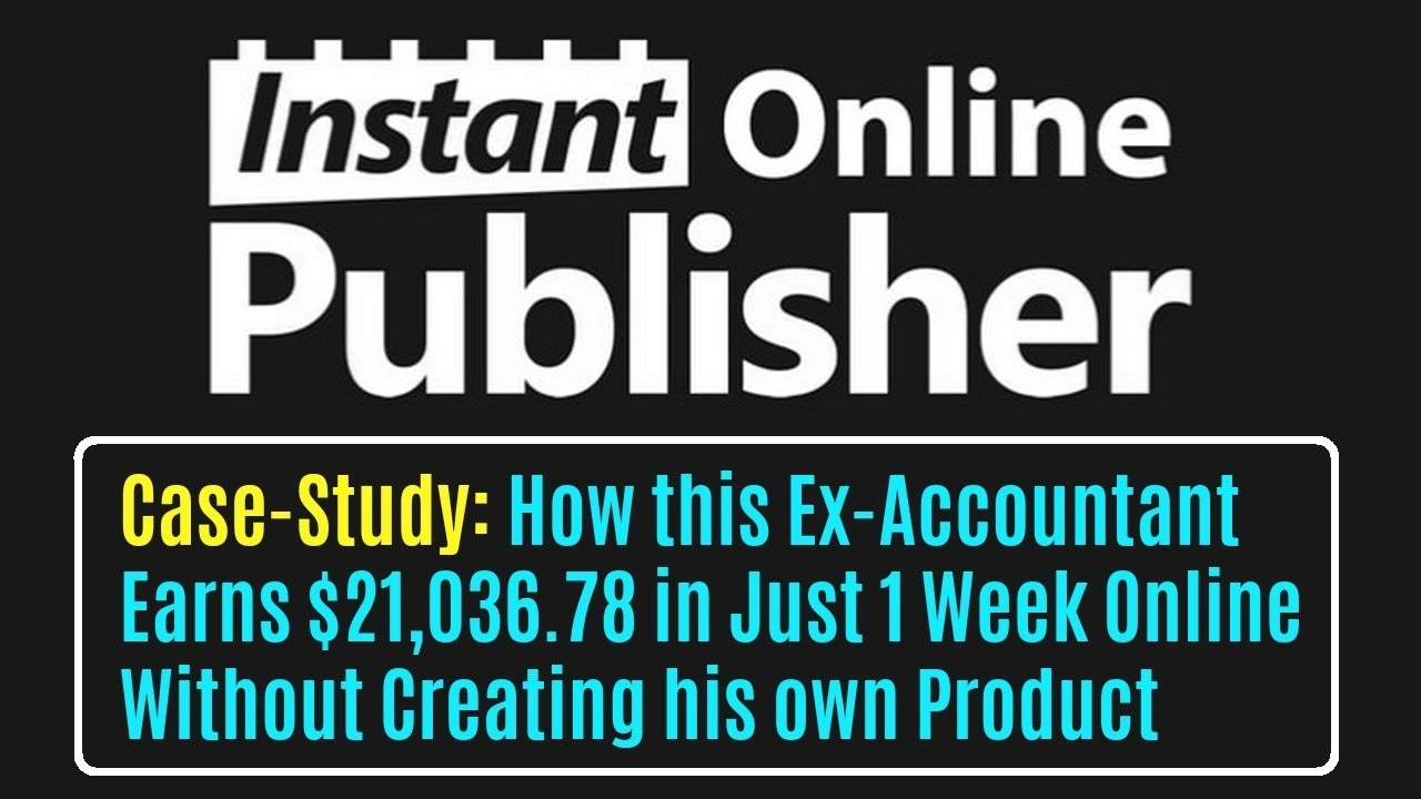 Instant Online Publisher Review - Sell Your Own Digital Products Online