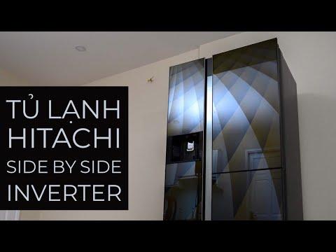 Trải nghiệm tủ lạnh Hitachi Side by Side Inverter R-M700AGPGV4X:tất cả đều để tiết kiệm điện!