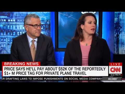 Tom Price HHS Sec Private Jet Travel reportedly grows to more than $1M