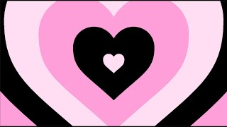 Gothic Black and Pink Heart Background Ending Scene HQ Loop [1 HOUR]