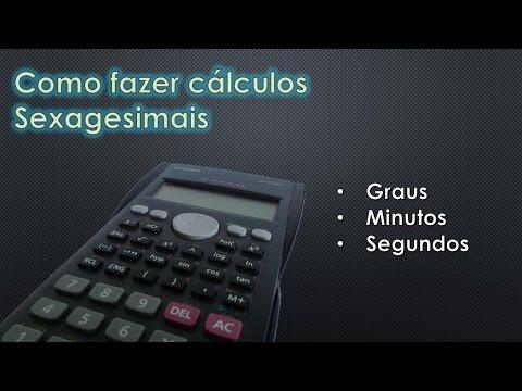 Como fazer calculos em Grau, Minutos e Segundos na calculadora cintifica casio