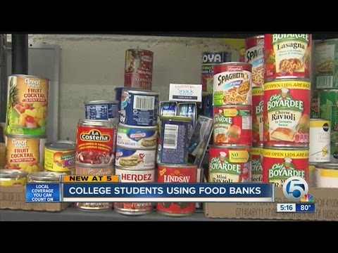 More students seeking food banks for help