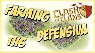 Diseño de Aldea 2x1 - Defensiva - Farming - Ayuntamiento 6 - Clash of clans