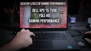 Dell XPS 15 7590 Gaming Performance - Desktop Gaming In A 1.8 Kilo Package!