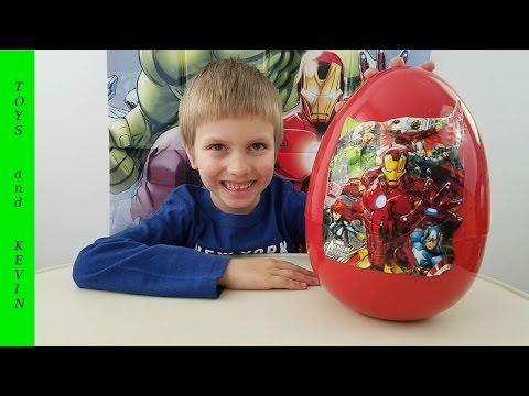 Большое яйцо с сюрпризом МСТИТЕЛИ Киндер сюрприз Игрушки мстители