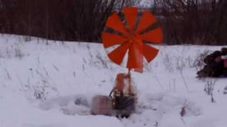 Нефтесборщик с ветродвигателем(Нефтесборщик с ветродвигателем НСВД-1