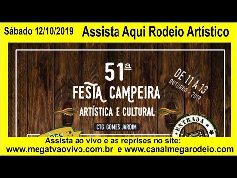 Artística - 51ª Festa Campeira Artística e Cultural CTG Gomes Jardim  12/10/2019  Sábado Guaíba -RS